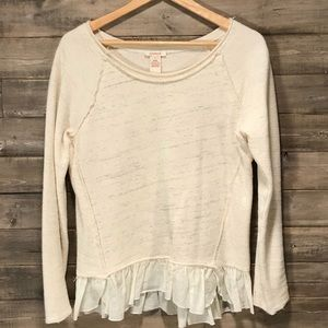 "Sundance ""Inside Out"" Cream Blouse"